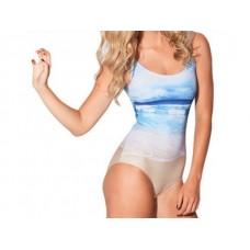 ชุดว่ายน้ำวันพีช ลาย ท้องทะเล สีฟ้า ชายหาด 3 มิติ สามารถใส่เป็นเสื้อกล้ามได้เลย สินค้านำเข้า ราคาพิเศษ no 921626